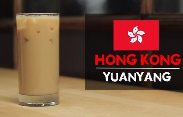 Tất cả các nguyên liệu gồm cà phê, trà, sữa đặc tạo nên hương vị đậm đà, thơm béo cho ly cà phê yuan yang nổi tiếng của Hồng Kông.